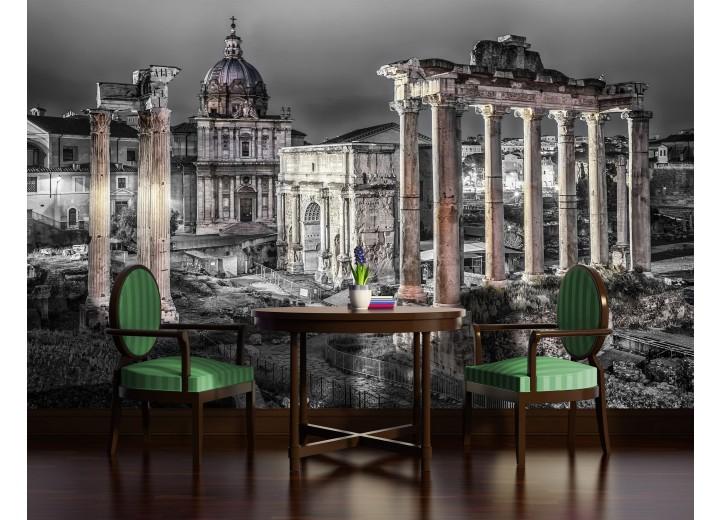 Fotobehang Vlies   Rome, Stad   Grijs   368x254cm (bxh)