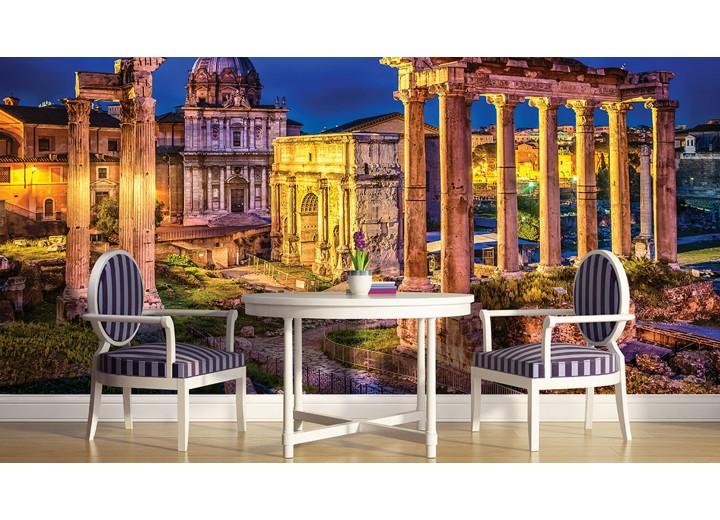 Fotobehang Rome, Stad | Geel | 312x219cm