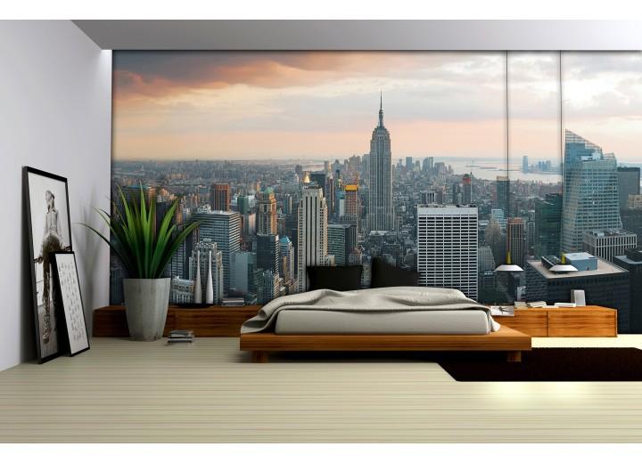 Fotobehang Vlies   New York   Grijs   368x254cm (bxh)