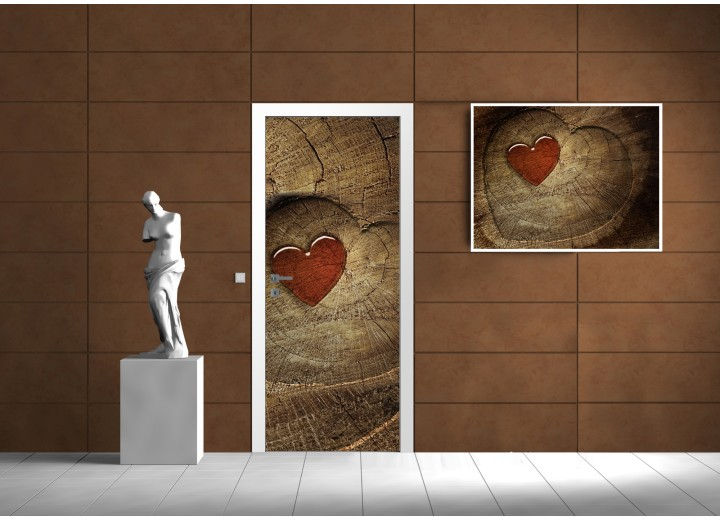 Fotobehang Abstract | Rood | 91x211cm