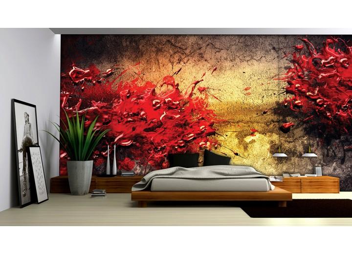 Fotobehang Vlies | Abstract, Kunst | Rood | 368x254cm (bxh)