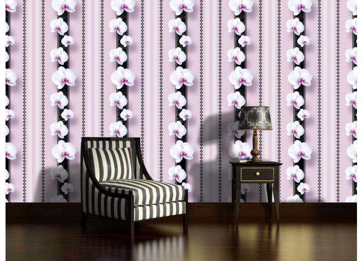 Fotobehang Papier Bloemen, Orchidee | Paars | 368x254cm