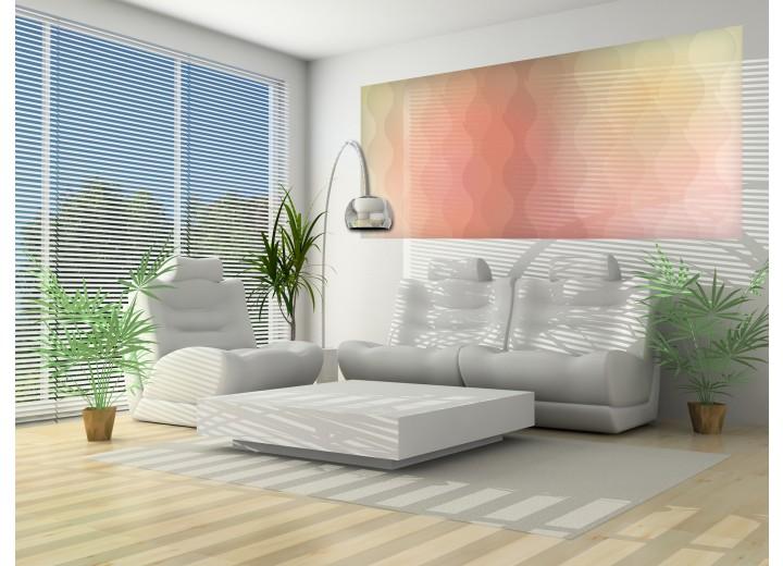 Fotobehang Abstract | Geel, Roze | 250x104cm