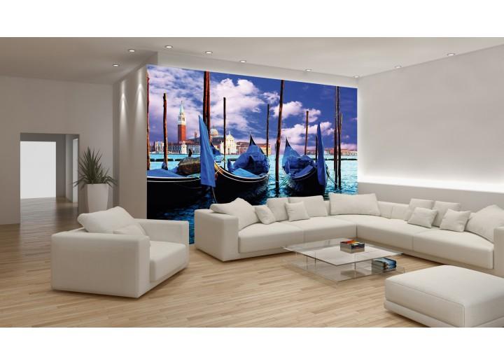Fotobehang Vlies | Venetië, Stad | Blauw, Groen | 368x254cm (bxh)