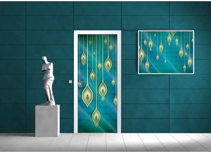Fotobehang Abstract | Turquoise | 91x211cm