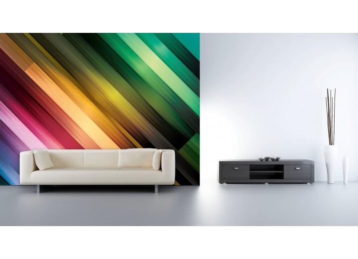 Fotobehang Vlies   Abstract   Groen, Paars   368x254cm (bxh)
