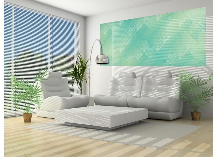 Fotobehang Klassiek   Groen, Blauw   250x104cm