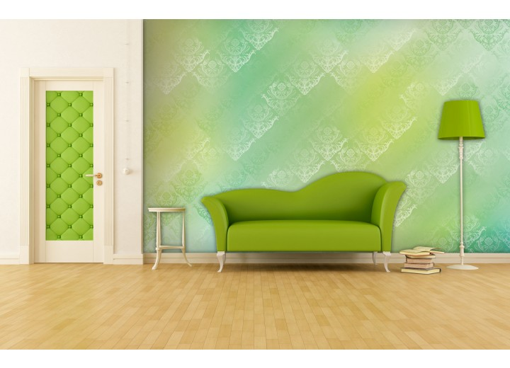 Fotobehang Klassiek | Geel, Groen | 312x219cm