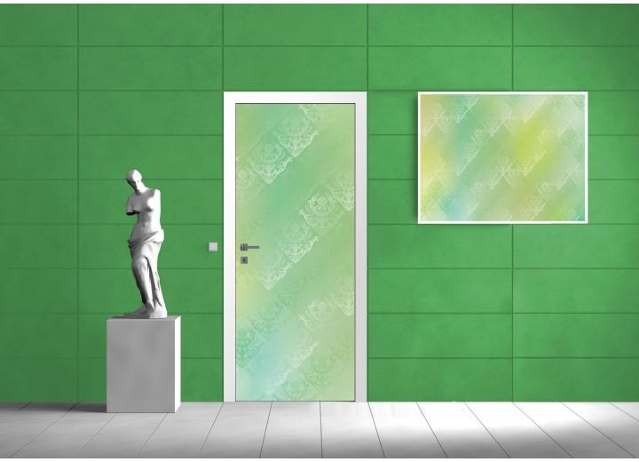 Deursticker Muursticker Klassiek | Groen | 91x211cm
