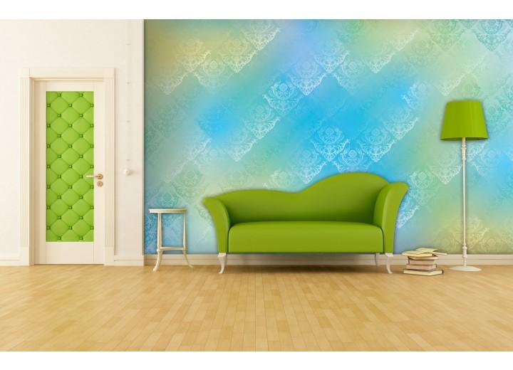 Fotobehang Klassiek | Blauw, Groen | 208x146cm