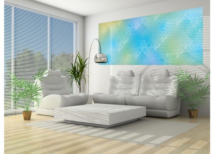 Fotobehang Klassiek | Blauw, Groen | 250x104cm