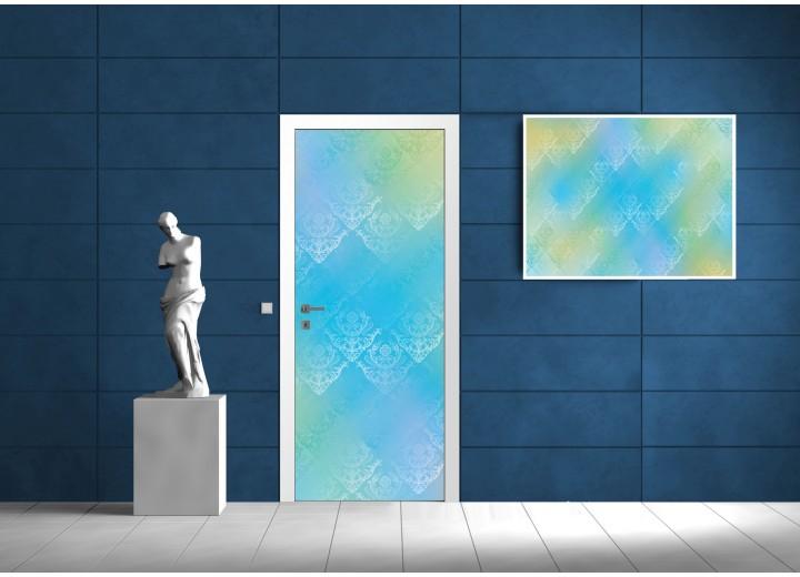 Fotobehang Abstract | Blauw, Groen | 91x211cm