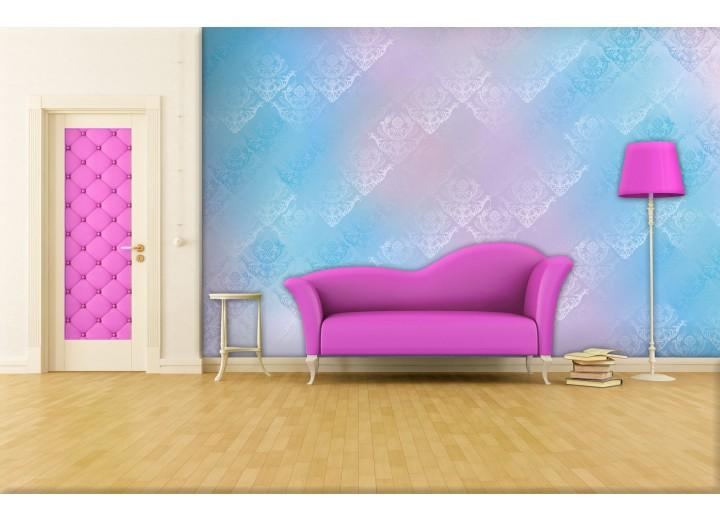 Fotobehang Papier Klassiek | Roze, Blauw | 254x184cm