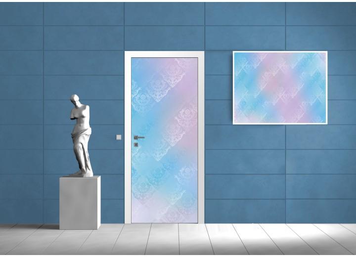 Deursticker Muursticker Klassiek | Blauw, Paars | 91x211cm