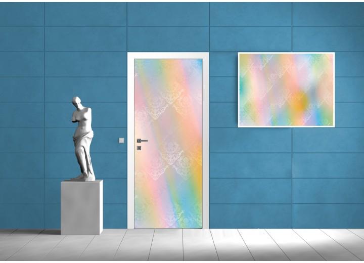 Deursticker Muursticker Klassiek | Geel, Groen | 91x211cm