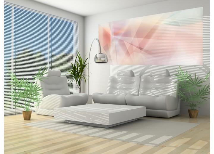 Fotobehang Abstract | Roze, Geel | 250x104cm