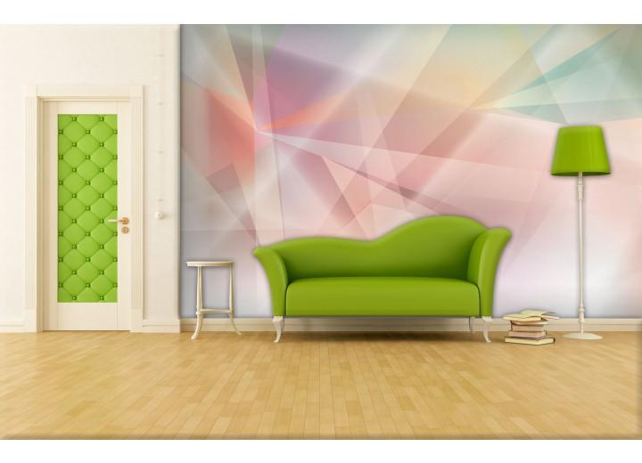Fotobehang Vlies   Abstract   Roze, Geel   368x254cm (bxh)