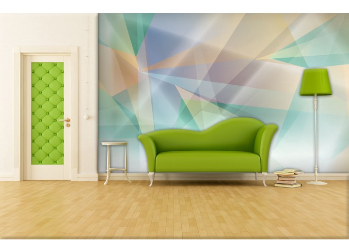 Fotobehang Abstract | Groen, Geel | 312x219cm
