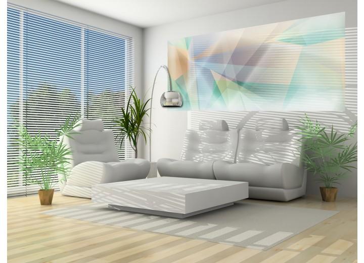 Fotobehang Abstract | Groen, Geel | 250x104cm