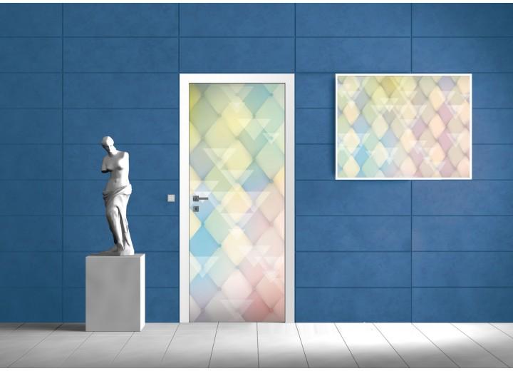 Deursticker Muursticker Modern | Geel, Groen | 91x211cm