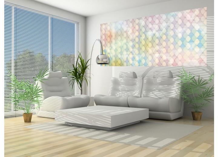 Fotobehang Abstract | Geel, Groen | 250x104cm