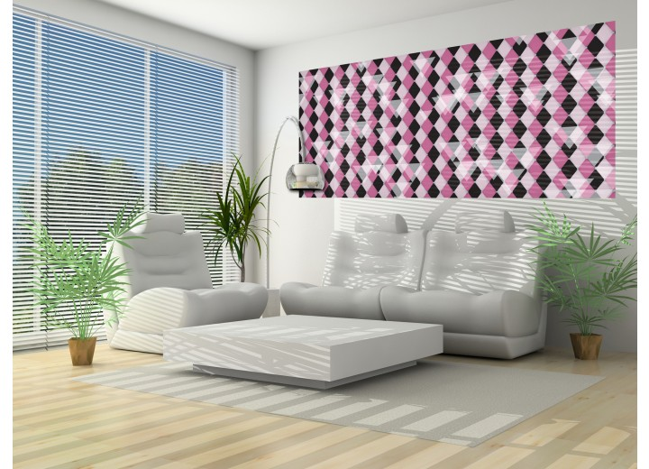 Fotobehang Abstract   Paars, Grijs   250x104cm