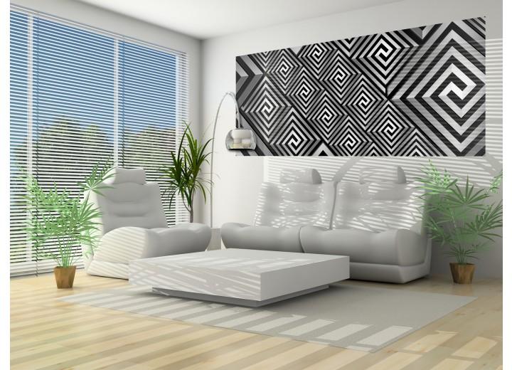 Fotobehang Abstract | Grijs, Zwart | 250x104cm