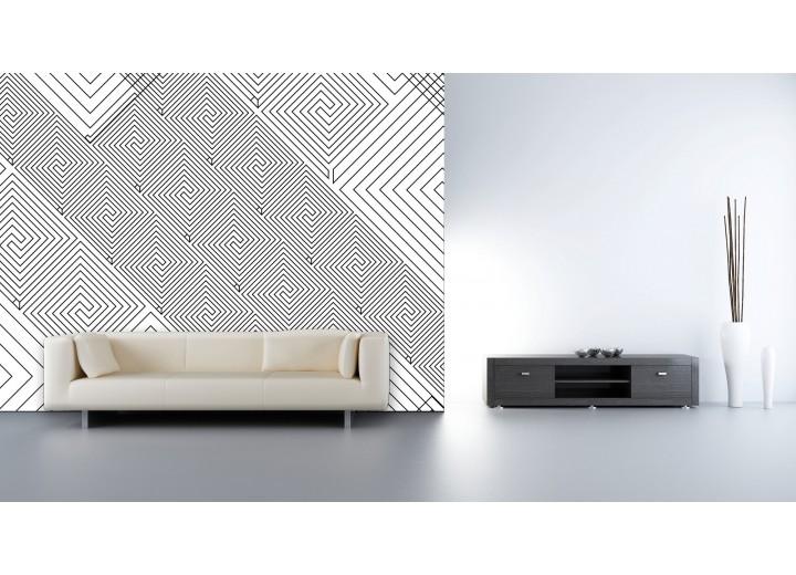 Fotobehang Vlies | Abstract | Wit, Grijs | 368x254cm (bxh)