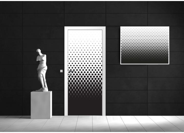 Deursticker Muursticker Modern   Zwart, Wit   91x211cm