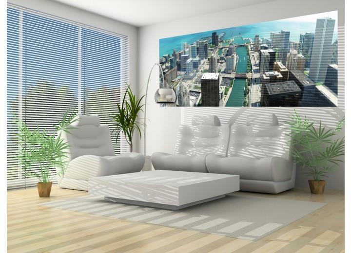 Fotobehang Skyline | Grijs | 250x104cm
