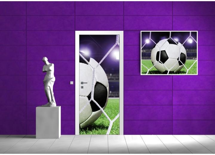 Fotobehang Voetbal | Paars | 91x211cm