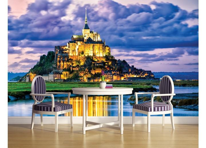 Fotobehang Papier Frankrijk | Blauw | 368x254cm