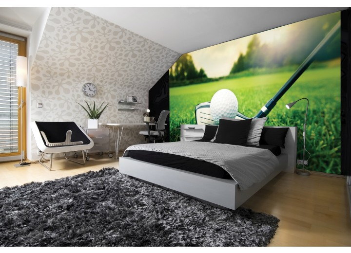 Fotobehang Golf | Groen, Wit | 416x254