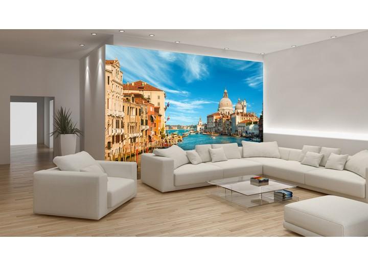 Fotobehang Venetië | Blauw, Bruin | 416x254