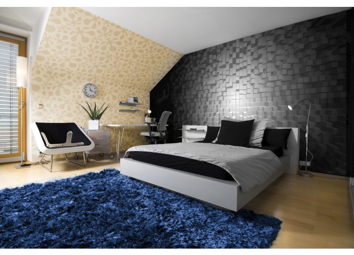 Fotobehang 3D | Grijs, Zwart | 416x254