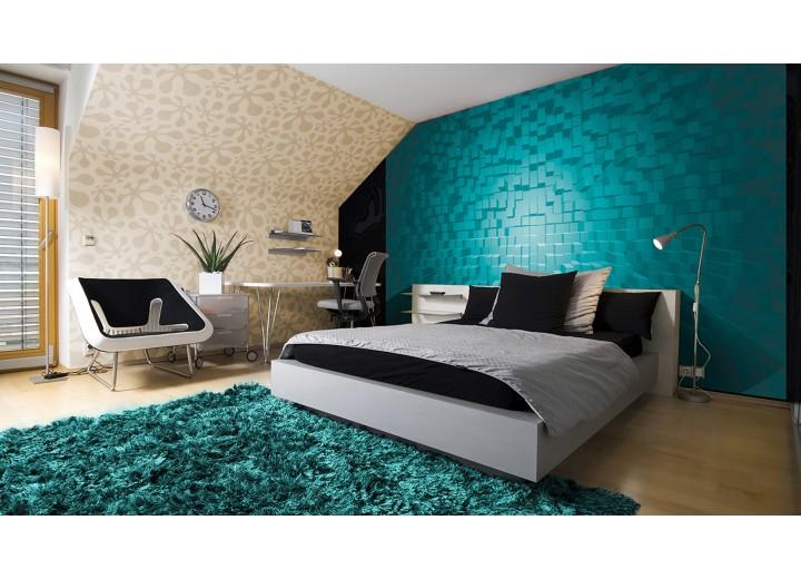 Fotobehang Vlies | 3D | Turquoise | 368x254cm (bxh)