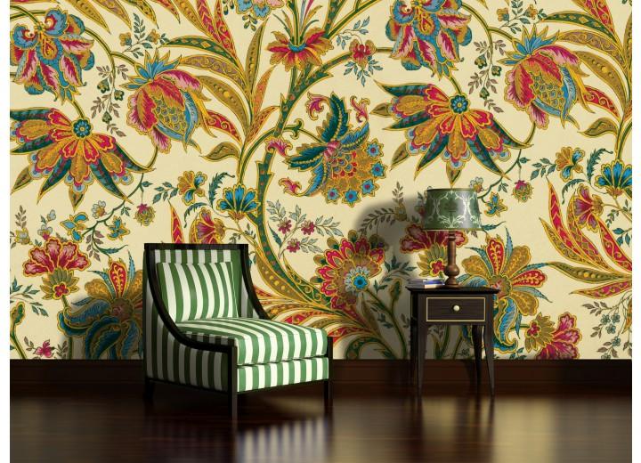 Fotobehang Bloemen | Geel, Groen | 152,5x104cm