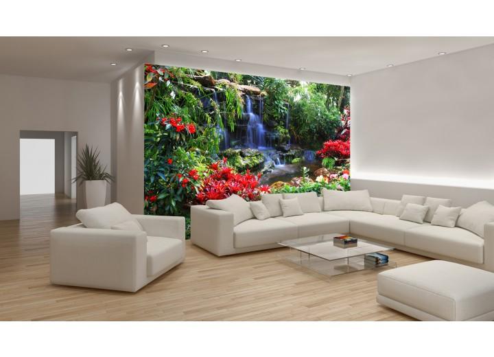 Fotobehang Vlies | Natuur | Groen, Rood | 368x254cm (bxh)