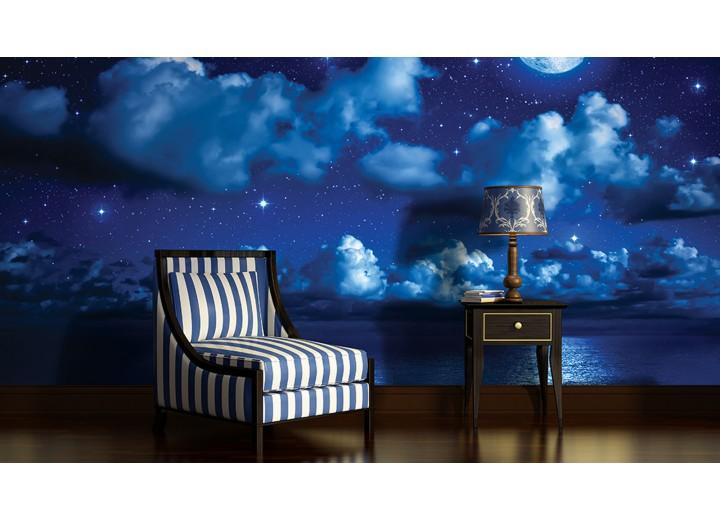 Fotobehang Vlies | Nacht | Blauw | 368x254cm (bxh)