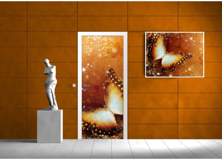 Deursticker Muursticker Natuur | Goud | 91x211cm