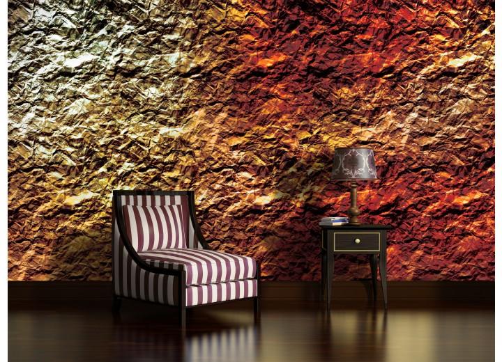 Fotobehang Vlies | Muur | Oranje | 368x254cm (bxh)