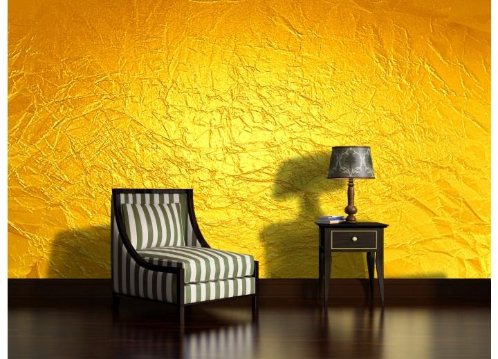Fotobehang Papier Muur | Geel | 254x184cm
