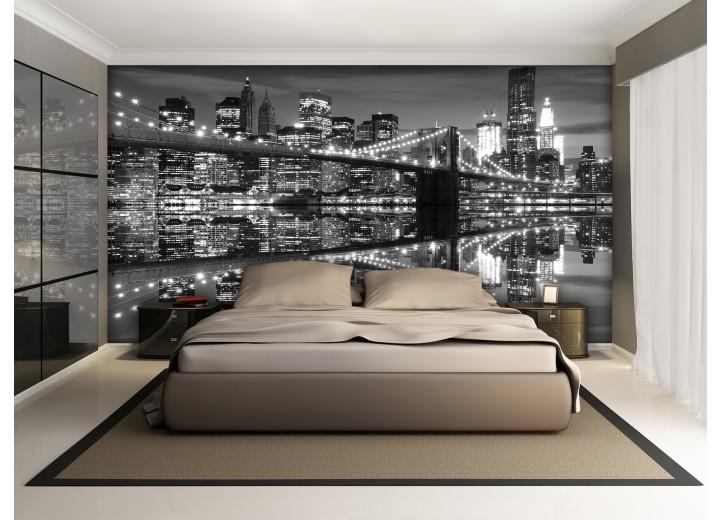 Fotobehang New York | Zwart, Wit | 152,5x104cm