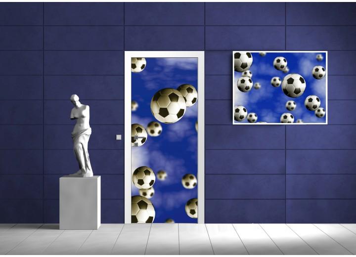 Fotobehang Voetbal   Blauw   91x211cm