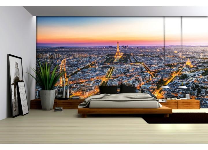 Fotobehang Parijs | Geel | 312x219cm