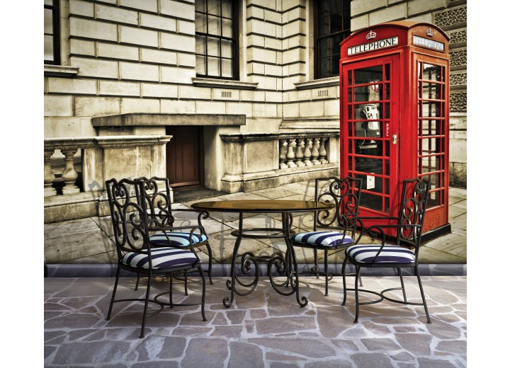 Fotobehang Engeland | Rood | 208x146cm