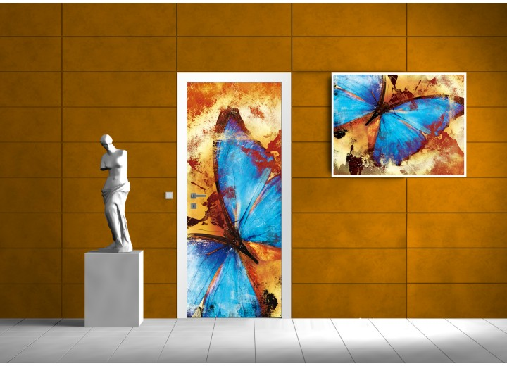 Fotobehang Natuur   Blauw   91x211cm