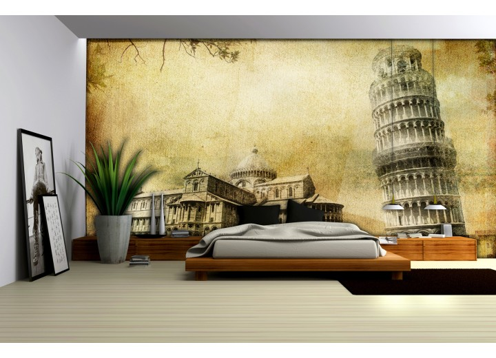 Fotobehang Vlies | Pisa | Sepia | 368x254cm (bxh)