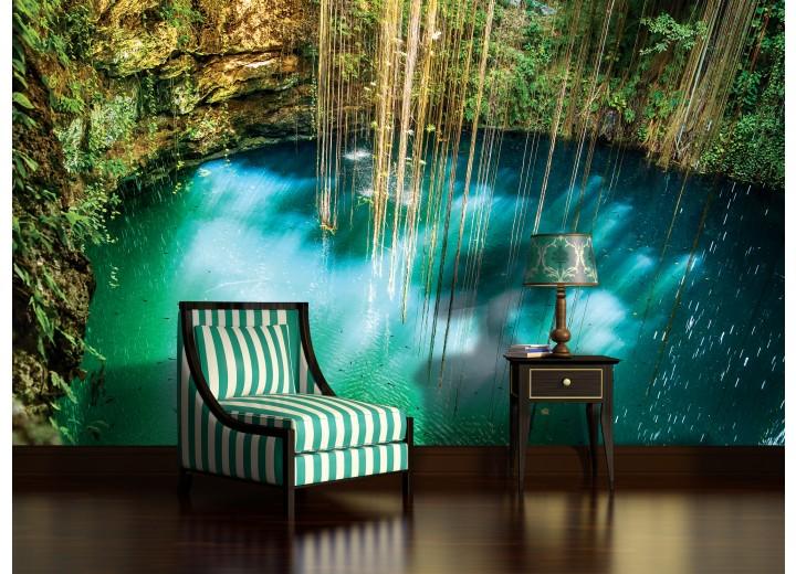 Fotobehang Vlies | Natuur | Groen, Blauw | 368x254cm (bxh)