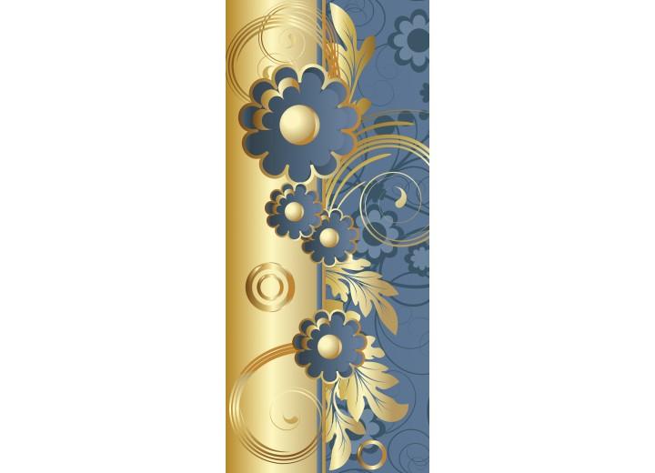 Deursticker Muursticker Klassiek   Goud, Blauw   91x211cm